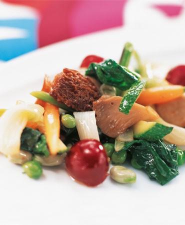 recetas-mezcla-primaveral-de-setas-verdura-y-fruta