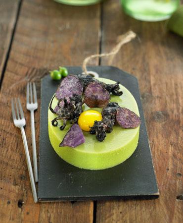 Pea Agar Agar With Baby Squid Delicooks Good Food Good Life