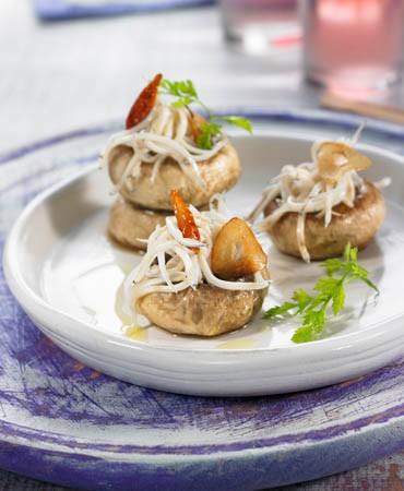 recetas-angulas-con-champinones