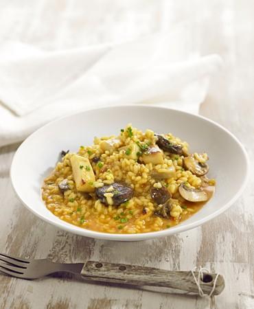 recetas-arroz-meloso-de-sepia-butifarra-y-portobello