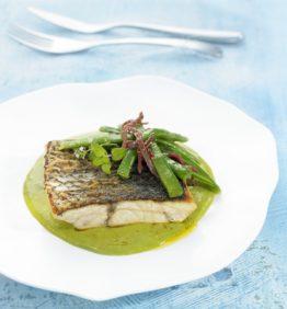 recetas-corvina-con-parmentier-de-guisantes-y-judias-verdes