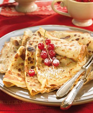 Crepes suzette flambeadas