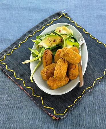 Croquetas de zanahoria y tofu