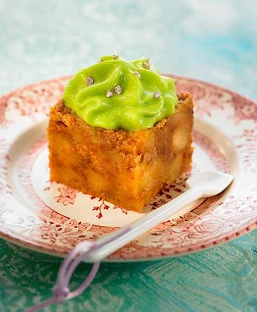 recetas-crumble-de-manzana-diferente-con-espuma-de-albahaca