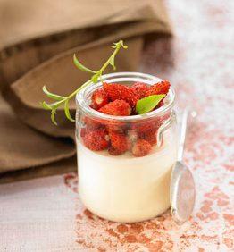 recetas-cuajada-de-yogurt-de-cabra-con-fresitas