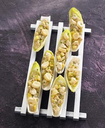 recetas-endivias-rellenas-de-pollo-en-salsa-roquefort