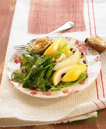 recetas-ensalada-con-pera-y-queso-de-cabra-gratinado