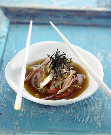 recetas-ensalada-de-pescado-marinado-en-salsa-ponzu