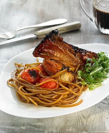 recetas-espagueti-caramelizado-con-cordero