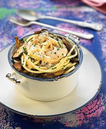 recetas-espagueti-con-setas-y-salsa-de-foie