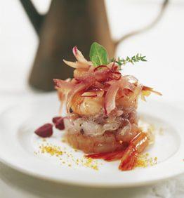 recetas-esqueixada-de-gambas-rojas-y-bacalao