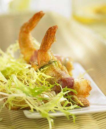 recetas-gambas-con-calabacin-y-bacon