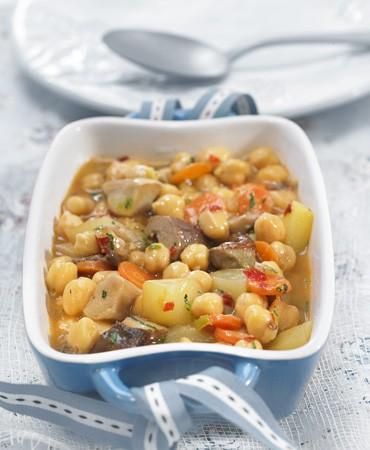recetas-garbanzos-con-ceps-y-verduras