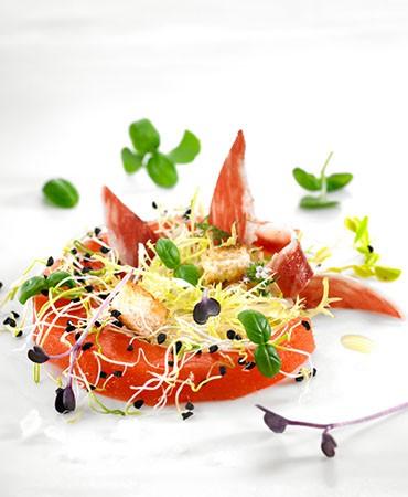 recetas-gazpacho-solido-de-tomate-y-sandia-con-ensalada-de-germinados