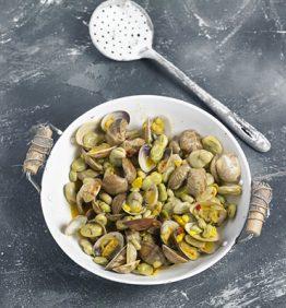 recetas-habas-con-almejas-y-azafran
