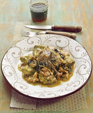 recetas-jarrete-de-ternasco-con-setas-y-alcachofas