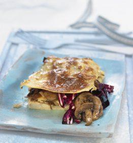 recetas-lasana-de-champinones-radicchio-y-tofu-ahumado