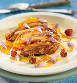 recetas-magret-de-pato-al-azahar-flores-de-salvia-y-romero