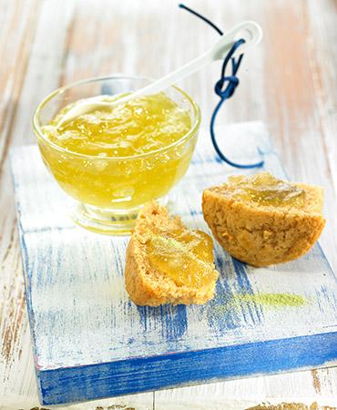 Mermelada de jengibre y té verde