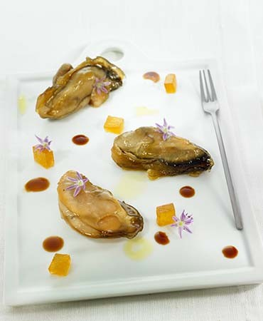 recetas-ostras-con-miel-y-flor-de-cebollino