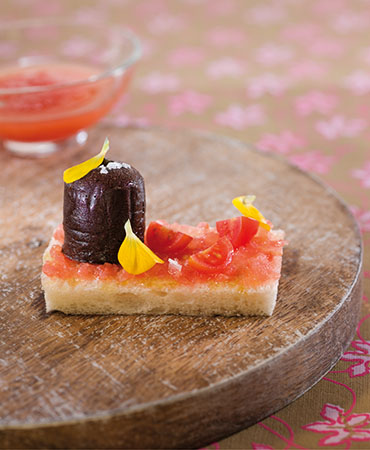 Pan con tomate y chocolate