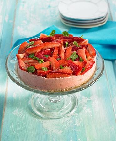 recetas-pastel-de-fresas-y-yogur-con-menta
