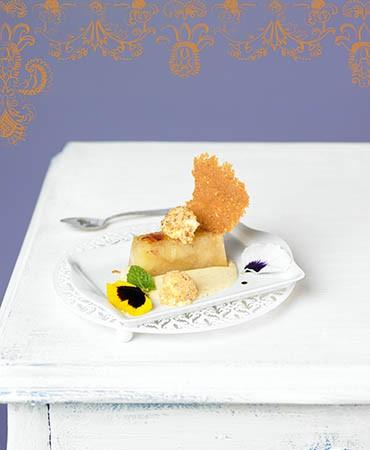 recetas-pera-al-horno-y-crocante-de-vainilla