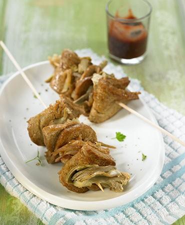 recetas-pinchos-de-seitan-con-alcachofas