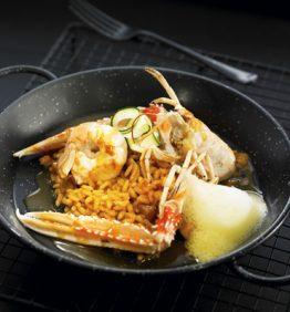 recetas-risotto-de-sepia-cigala-y-calabacin-al-azafran