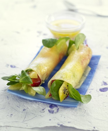recetas-rollitos-de-pina-a-la-salsa-de-jengibre