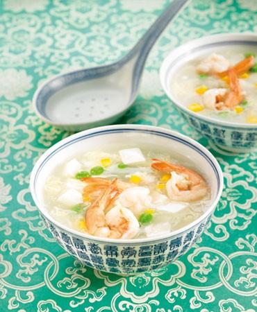 recetas-sopa-de-tofu-con-langostinos