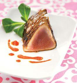 recetas-taco-de-atun-rojo-con-salsa-de-pimientos