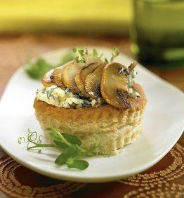 recetas-tartaletas-con-roquefort-y-champinones-al-horno