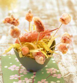 recetas-tempura-de-carabineros-melon-y-platano-frito