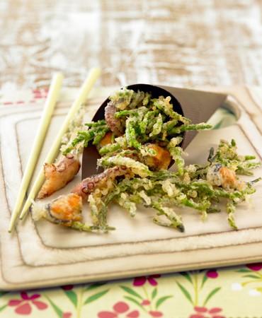 recetas-tempura-de-salicornia-pulpo-y-mejillones