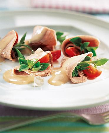 Ternera fría con salsa de atún