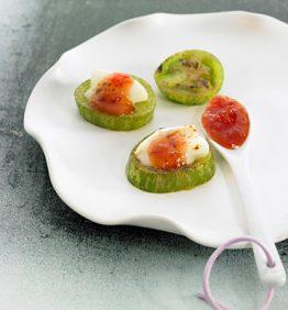 recetas-tomates-verdes-con-queso-de-cabra