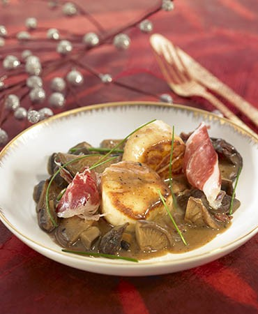 recetas-vieiras-con-shitake-y-jamon