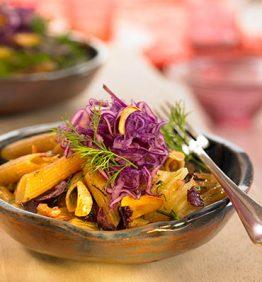 recetas-macarrones-con-nueces-y-col-lombarda