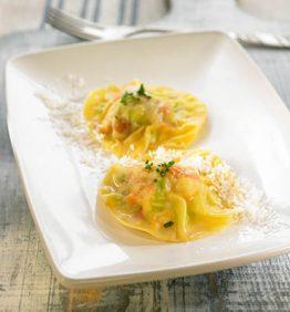recetas-raviolis-de-cigalas-ajo-tierno-coco-y-azafran