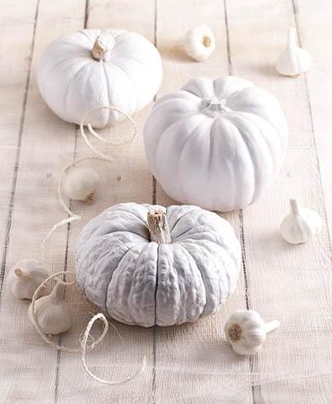 estilo en la mesa halloween en blanco
