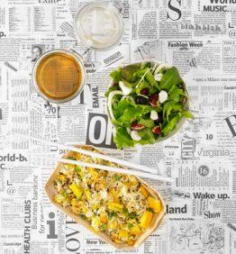 recetas tupper oficina : curry de pollo con basmati y ensalada verde con queso de cabra 370x450