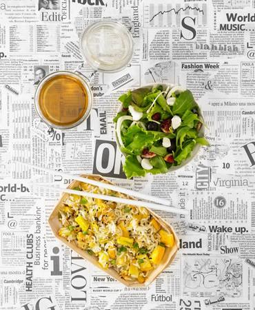 recetas tupper oficina : curry de pollo con basmati y ensalada verde con queso de cabra 370×450