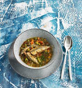 anchoas con verduras